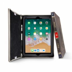 iPad 9.7, Air, Air 2 Fodral BookBook Äkta Läder Stativ Brun