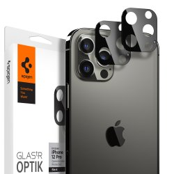 iPhone 12 Pro Kameralinsskydd GLAS.tR Optik 2-pack Svart