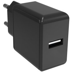 Safety Charger Laddare USB-A Svart