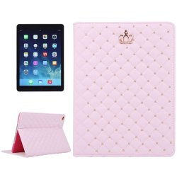Apple iPad Air 2 Fodral Krona Cross Stitch Rosa