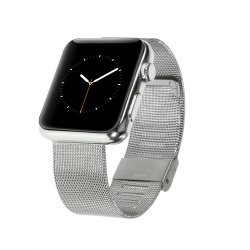Apple Watch 38mm Series 1/2/3 Armband Metall Silver