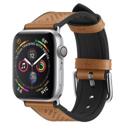 Apple Watch 42/44mm Armband Retro Fit Brun