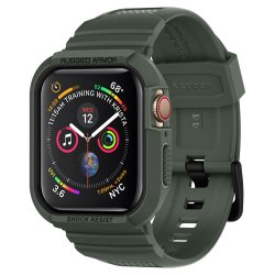 Apple Watch 44mm (Series 4/5/6/SE) Skal Rugged Armor Pro Military Green