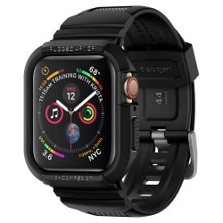 Apple Watch 44mm (Series 4/5/6/SE) Skal Rugged Armor Pro Svart