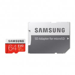 EVO Plus 64GB microSD Card + SD Adapter