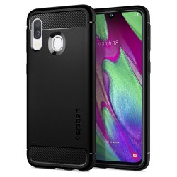 Samsung Galaxy A40 Skal Rugged Armor Matte Black