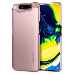 Samsung Galaxy A80 Skal Thin Fit Roseguld
