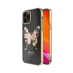 iPhone 12/iPhone 12 Pro Skal Butterfly Series Guld
