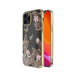 iPhone 12/iPhone 12 Pro Skal Butterfly Series Rosa
