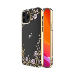 iPhone 12/iPhone 12 Pro Skal Flora Series Guld