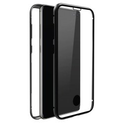 Samsung Galaxy S10 Skal 360° Real Glass Case Svart Transparent