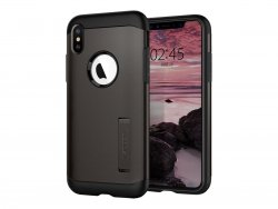 Slim Armor till Apple iPhone Xs Max Mobilskal Gunmetal