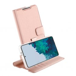 Samsung Galaxy S21 Fodral Classic Wallet Roseguld