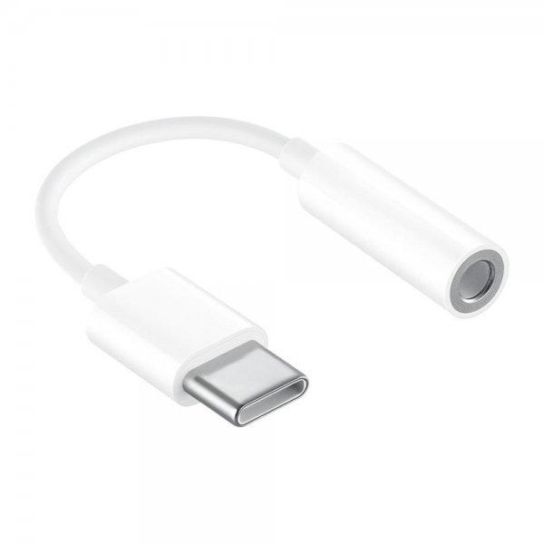 Adapter Type C till 3.5mm Ljudkontakt 10cm Vit