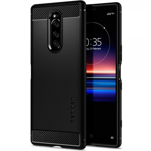 Sony Xperia 1 Skal Rugged Armor Matte Black