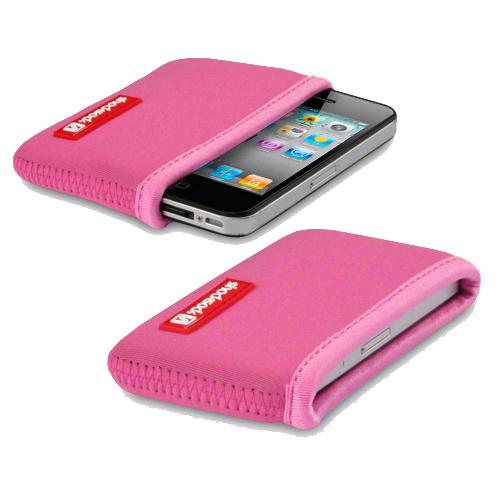 Fodral Väska för iPhone 4 4S Neopren Rosa Shocksock