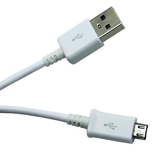 Original Micro USB Kabel Vit 1.5m ECB DU4AWE
