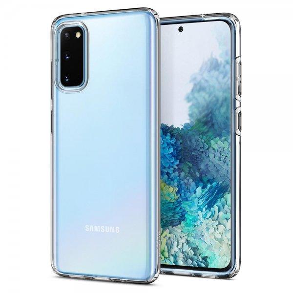 Spigen Samsung Galaxy S20 Skal Liquid Crystal Crystal Clear - SkalHuset.se