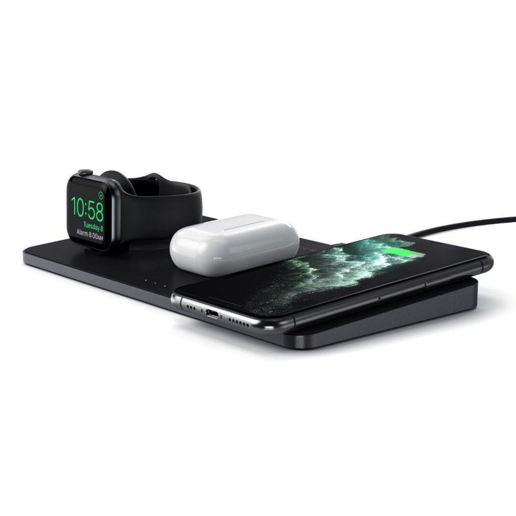 Trio Trådlös Laddare för Apple Watch, Airpods och Telefon