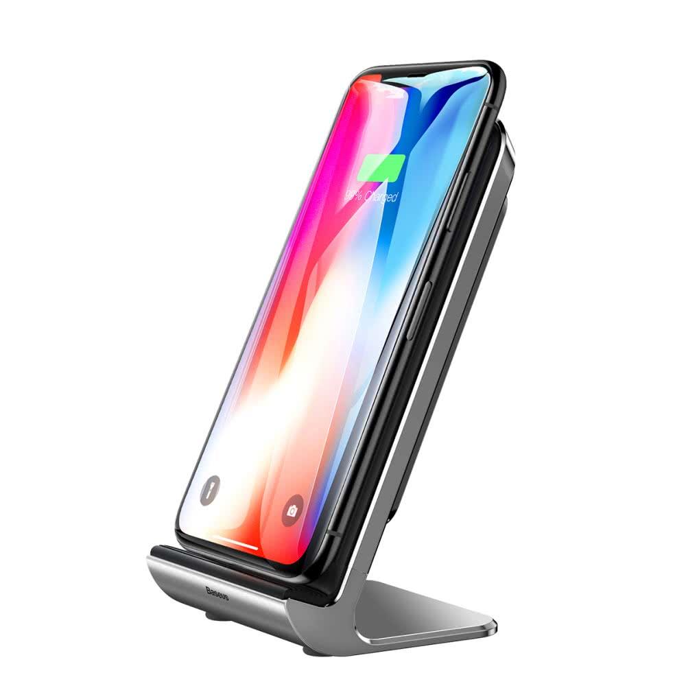 HOCO Car Qi Trådlös Laddare till iPhone Xs Max XR X 8 Plus Snabb Laddning Snabb Bilhållare för Samsung S9 S8 2018