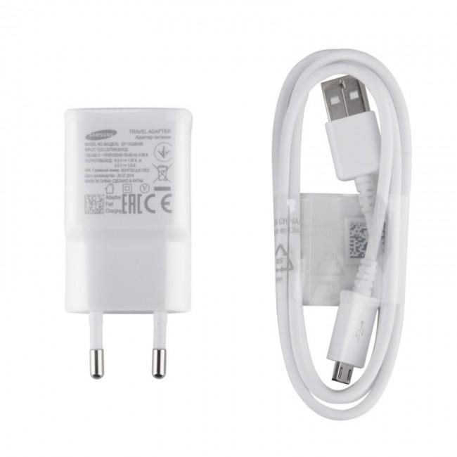 Original 2.0A USB laddare Micro USB Kabel Fast Charge Vit EP TA20EWE