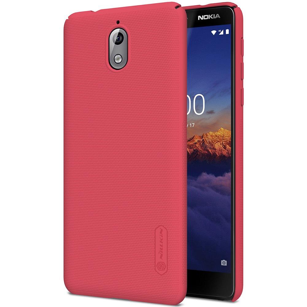 Frosted Shield Skal till Nokia 3.1 Röd
