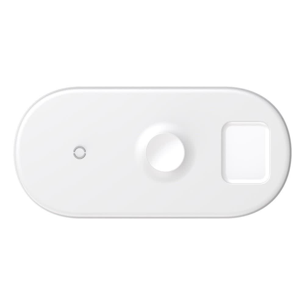 Trådlös Laddare för iPhone, Apple Watch och Airpods Vit