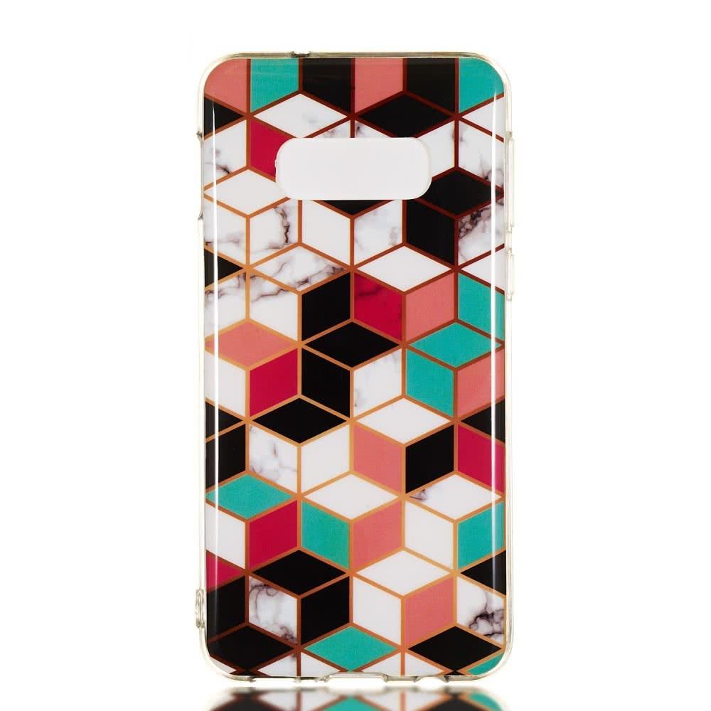 Samsung Galaxy S10E Skal TPU Motiv Blockmönster
