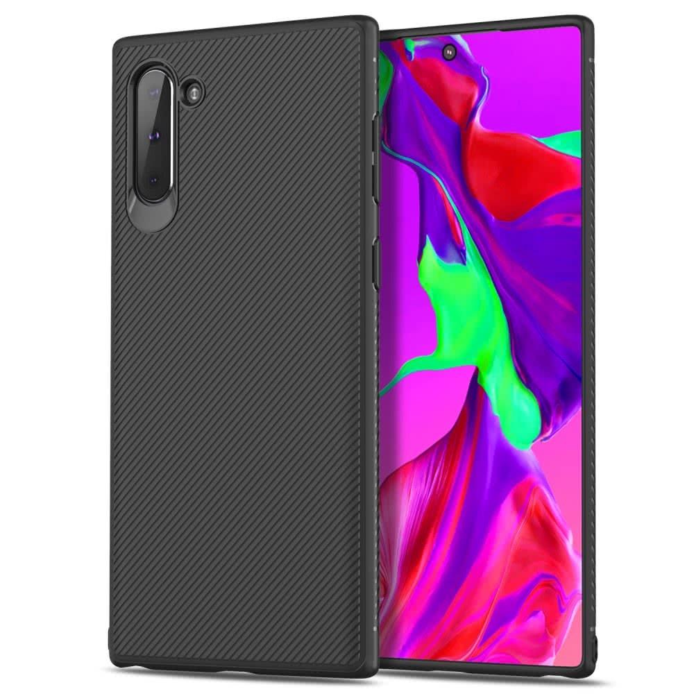 Samsung Galaxy Note 10 Skal TPU Vävtextur Svart