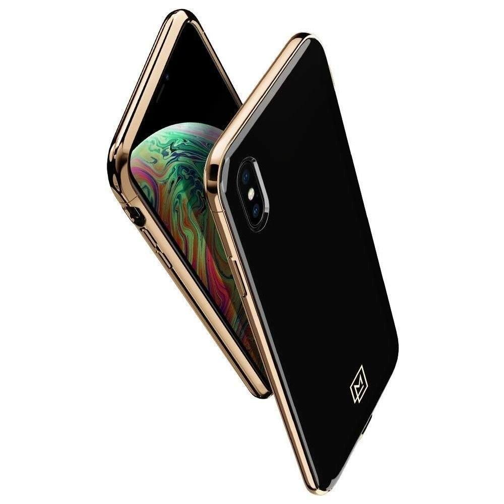 iPhone X/Xs Skal La Manon Etui Guld Svart