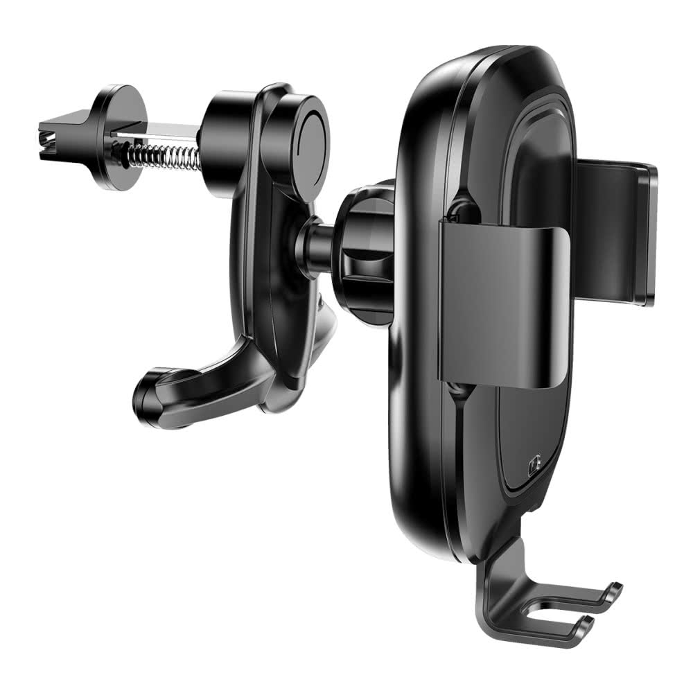 Intelligent Sensing Bilhållare med Trådlös QI Laddning Svart