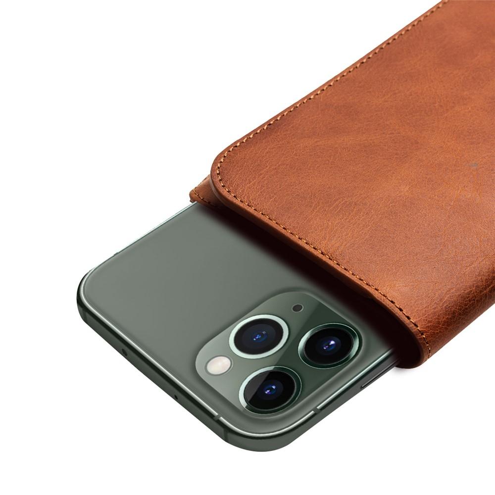 iPhone 1111 Pro11 Pro Max Väska med Kortfack Äkta Läder Brun