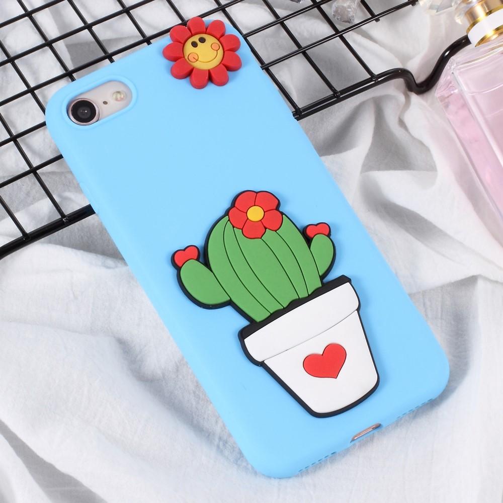 iPhone 8/7 Skal TPU 3D Kaktus
