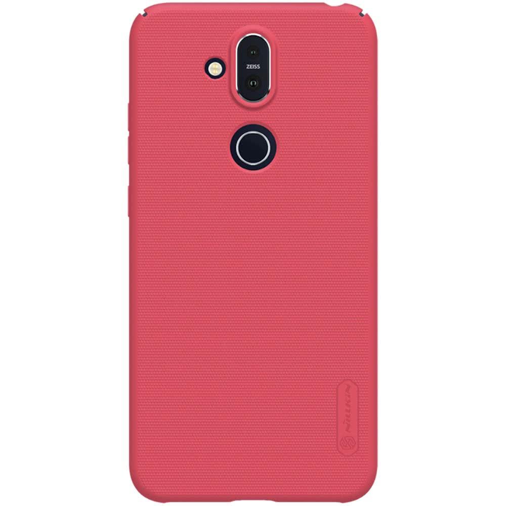 Nillkin Nokia 8.1 Skal Frosted Shield Hårdplast Röd