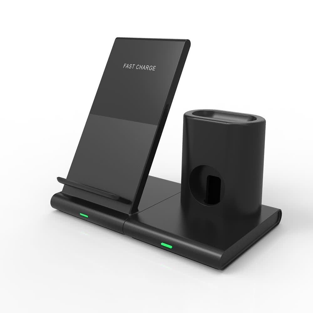 Q600 Trådlös Laddare Delbar 3 i 1 iPhone, Apple Watch och AirPods Svart