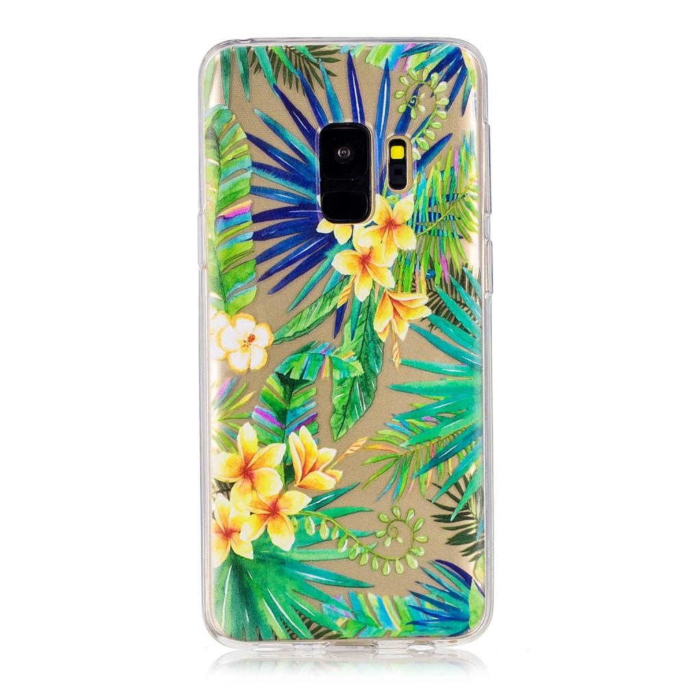 Samsung Galaxy S9 Mobilskal TPU Motiv Blommor och Blad