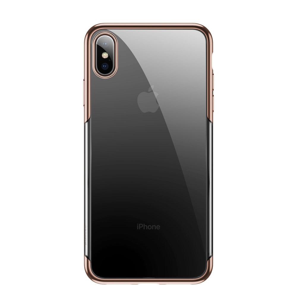 Baseus Shining Series Skal till iPhone Xs Max Pläterad TPU Guld
