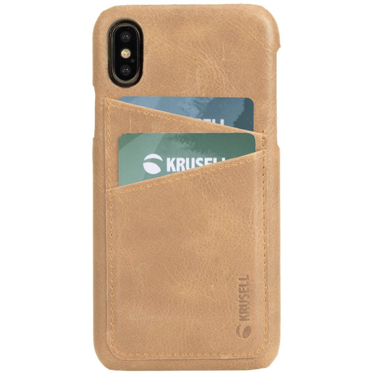 Krusell Sunne Kortfack Skal till iPhone X/Xs Nude